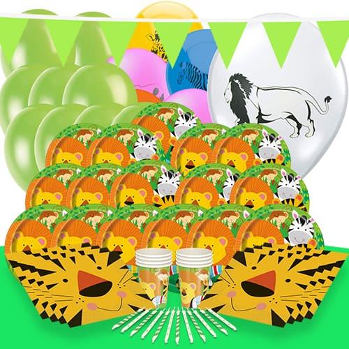 Jungla Animales Tema 16 Personas Paquete De Fiesta De Lujo