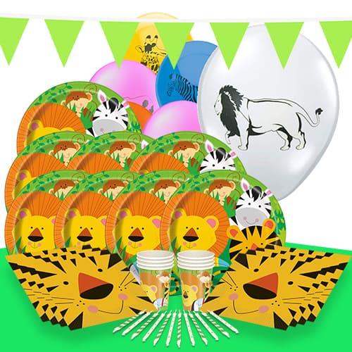 Jungla Animales Tema 8 Personas Paquete De Fiesta De Lujo