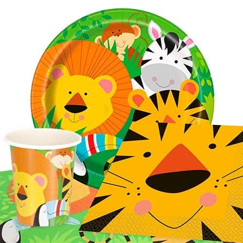 Tema De Animales De La Selva 8 Personas Valoran Paquete De Fiesta