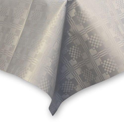 Mantel de Papel Plateado Metálico - 90cm x 88cm