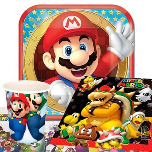 Paquete De Fiesta Nintendo Super Mario 8 Persona Valor