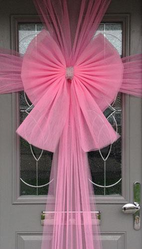 Decoración Lazo Color Rosa para Puerta