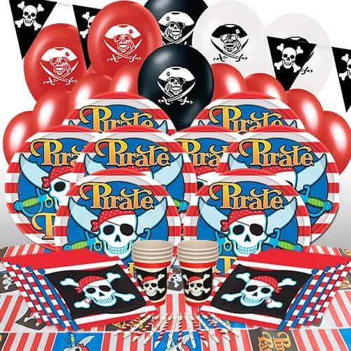 Tema Pirata Paquete De Fiesta De Lujo De 16 Personas