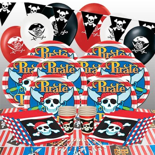 Tema Pirata Paquete De Fiesta De Lujo De 8 Personas