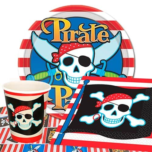 Tema Pirata Paquete De Fiesta De Valor Para 8 Personas