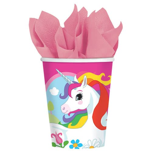 Vaso de papel diseño Unicornio 266ml