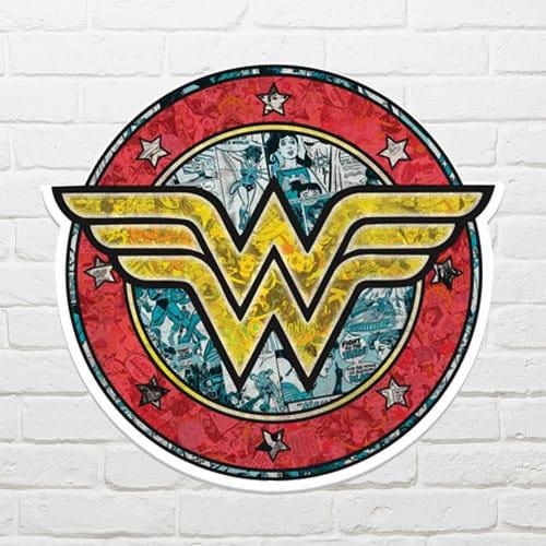 Escudo de Mujer Maravilla Arte de la Pared 68 x 72cm