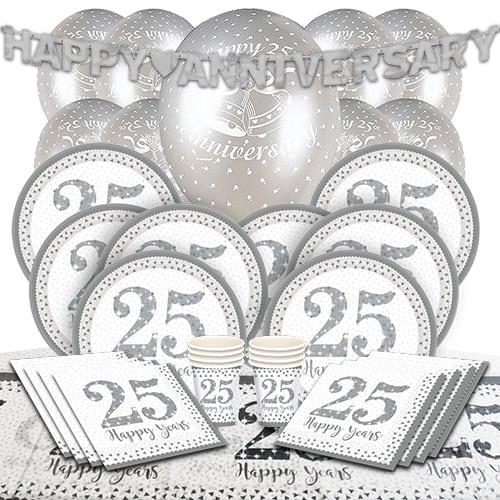 25 Aniversario De Bodas De Plata Paquete De Fiesta De Lujo Para 8 Personas