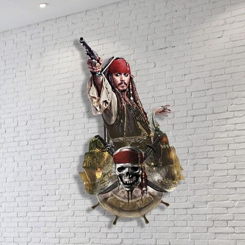 Arte de la Pared del Capitán Jack Sparrow 100 x 54cm
