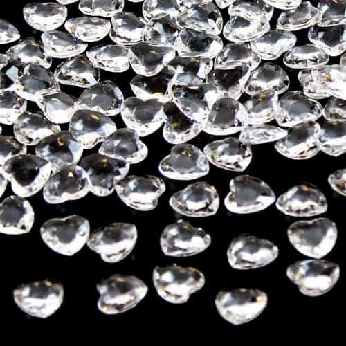 Claros Diamantes 12 Mm Heart Premium Tabla Gems 28G