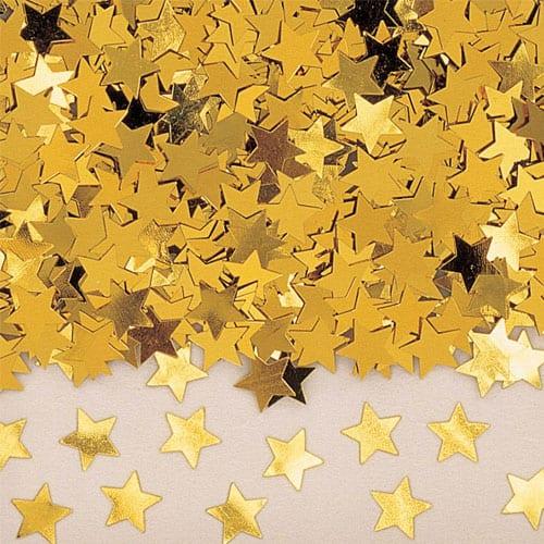 Confeti de Mesa de Estrellas de Oro – 14 Gramos