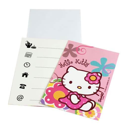 Hello Kitty Bambú Invitaciones con Sobres Pack de 6