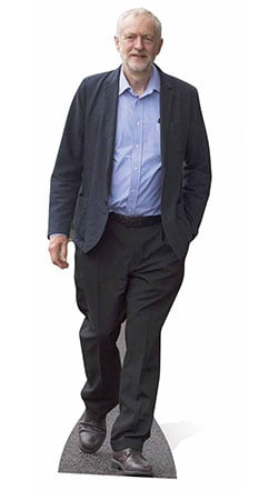 Jeremy Corbyn Figura de Cartón Tamaño Natural – 175cm