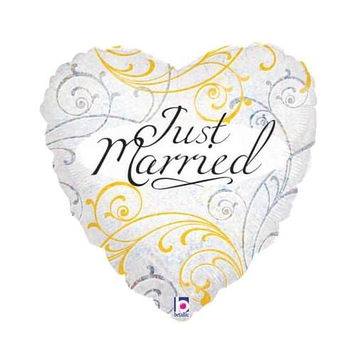 Recién Casados en Forma de Corazón Globo de la Hoja 45cm