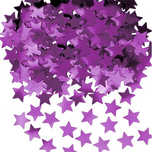 Estrellas Púrpuras Confeti de Mesa – 14 Gramos