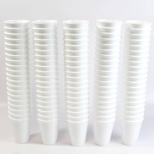 Blanco Tazas de Poli 295ml Paquete de 100