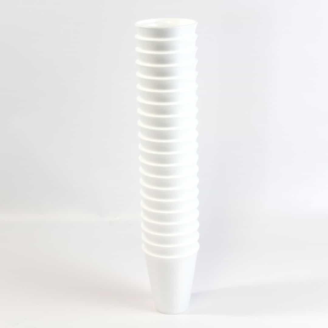 Blanco Tazas de Poli 295ml Paquete de 20