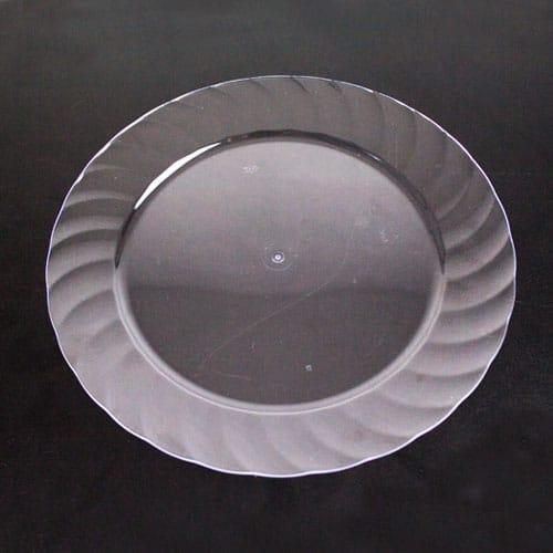 Plato de Plástico Redonda Transparente 23 cm