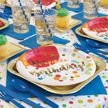 Suministros Deslumbrante Fiesta de Cumpleaños del Oro