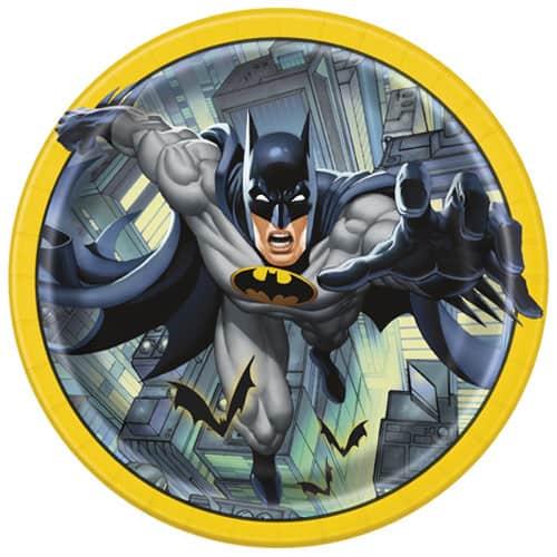Plato de Papel de Batman 22cm