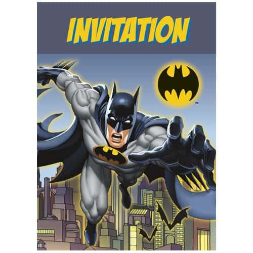 Batman Invitaciones del Fiesta con los Sobres - Pack de 8