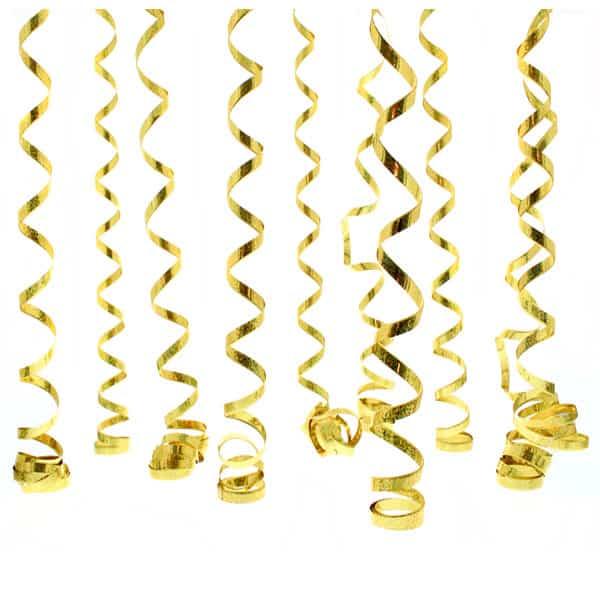Serpentinas Prismáticas de Oro 10 Lanzamientos