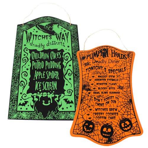 Placa Colgante De Halloween 40Cm