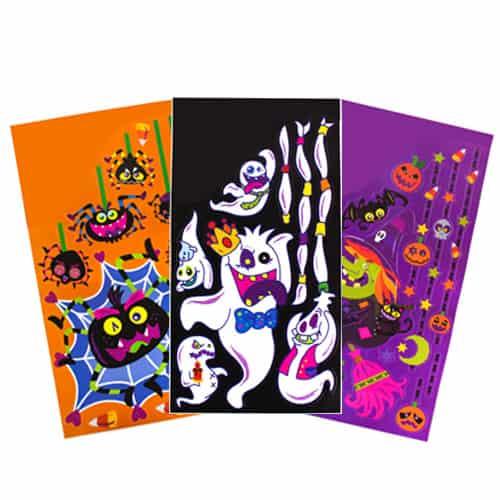 Etiquetas Engomadas De La Ventana Del Brillo Jumbo De Halloween