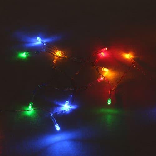 20 Luces De Navidad Led Con Pilas De Varios Colores