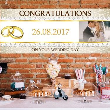 Banners de boda personalizados