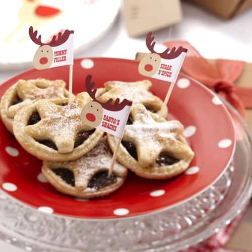 Palos De Pastel De Navidad De Rudolf De Carne Picada - Paquete De 20