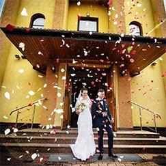 Confeti y cañones de boda