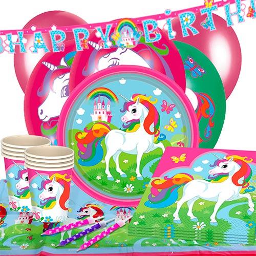 Paquete Fiesta De Lujo Unicornio 16 Personas