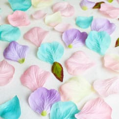 Tela de confeti de pétalos de rosa