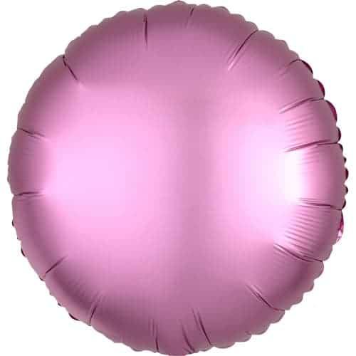 Flamingo Rosa Satinado De Lujo Redondo Globo Helio 43 Cm