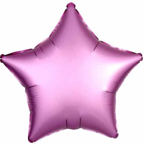 Globo De Helio Rosa Flamingo Estrella Satinada Luxe Estrella 48 Cm