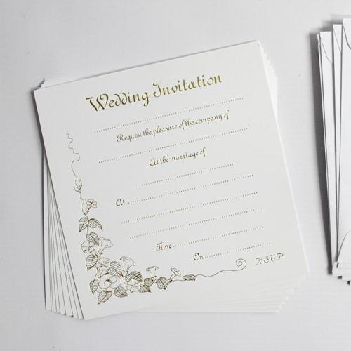Invitaciones de Boda de Oro Con Sobres - Paquete de 10