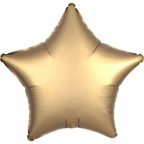 Globo De Helio Dorado Estrella De Oro Satinado 48 Cm / 19 Pulgadas