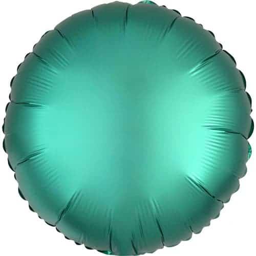 Globo De Helio De Aluminio Redondo De Jade De Lujo De Jade Verde 43 Cm