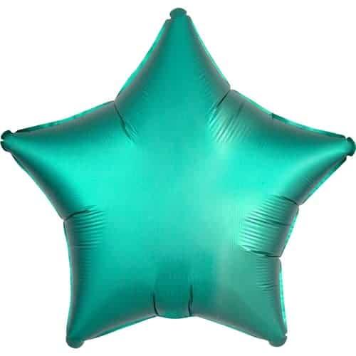 Globo De Helio Verde Estrella De Jade Verde Satinado De Lujo 48 Cm