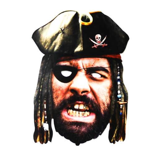 Máscara Facial de Cartón Pirata
