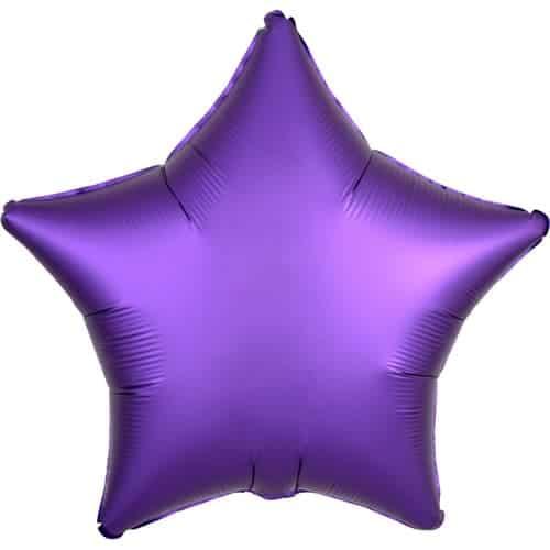 Globo De Helio De Estrella Púrpura De Lujo Satinado Estrella De Lujo 48 Cm