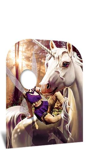 Unicornio Y Hada Fantasía Tierra Niño Tamaño Stand En Cartón Recortado 131Cm