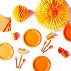 Suministros de fiesta naranja