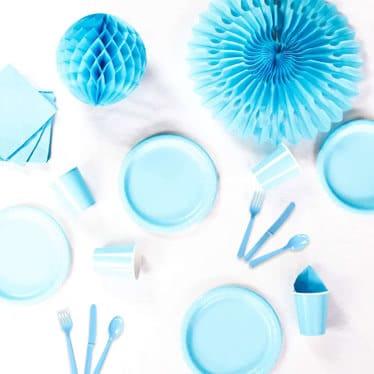 Suministros de Fiesta de Azul Bebé