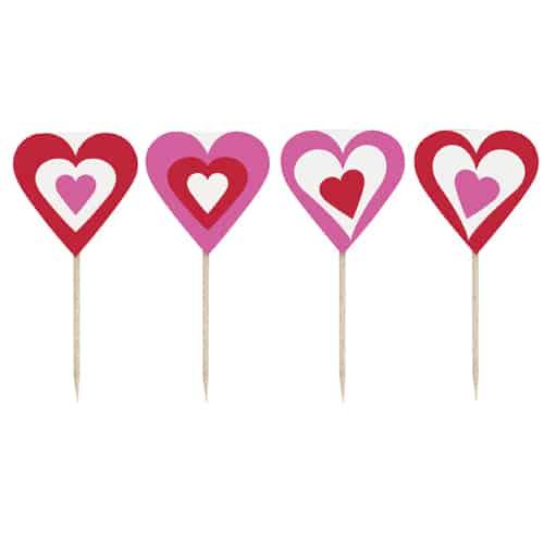 Palillos de Corazones de San Valentín - Pack de 8