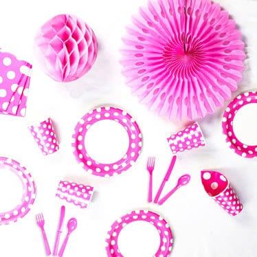 Puntos decorativos rosa