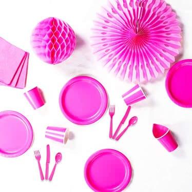 Fuentes de fiesta de rosa caliente