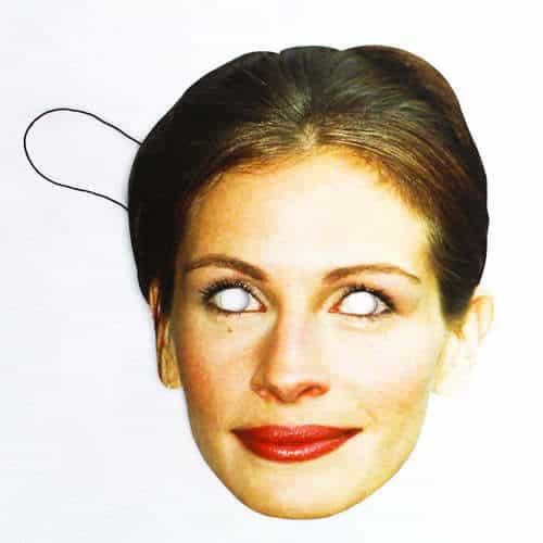 Máscara de Cartón de Julia Roberts