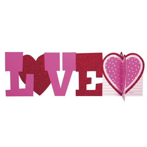 Centro de Mesa Decoración de Lujo de San Valentín 3D Amor 35cm